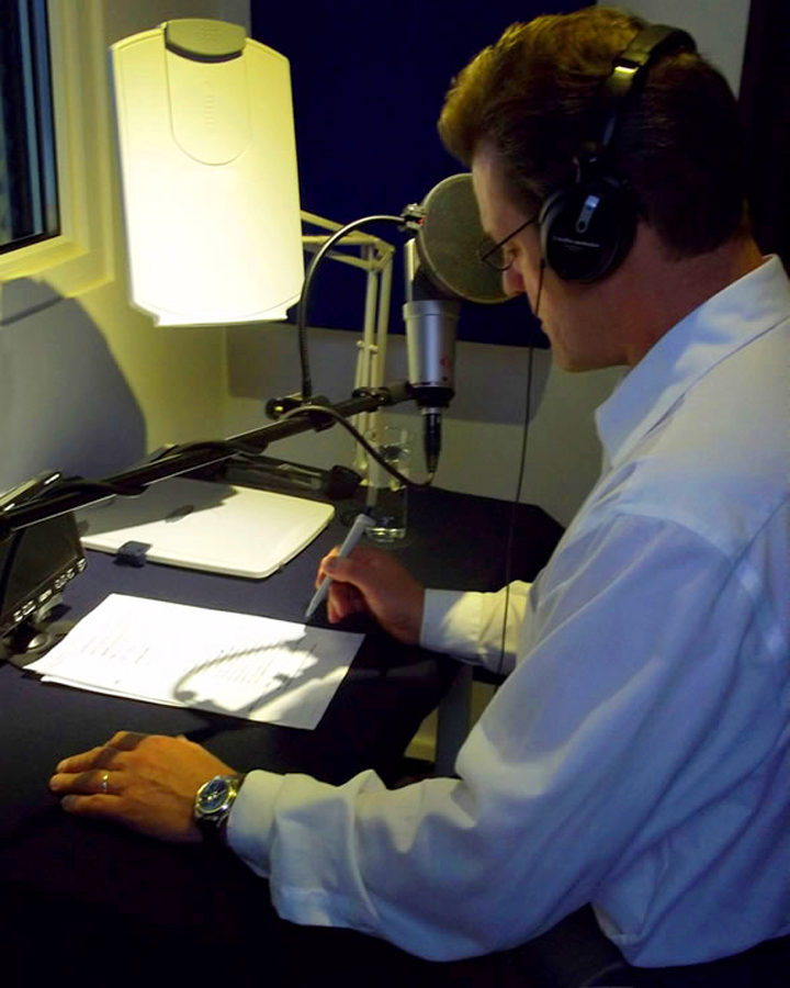 Anthony Straeger Voice Over VO booth